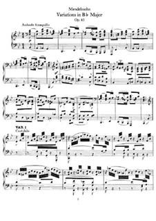 Анданте и вариации, Op.83a: Variations by Феликс Мендельсон-Бартольди