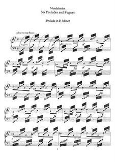 Шесть прелюдий и фуг, Op.35: Для фортепиано by Феликс Мендельсон-Бартольди