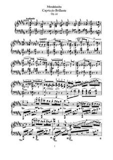 Блестящее каприччио, Op.22: Партия фортепиано by Феликс Мендельсон-Бартольди