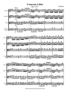 Концерт No.7 ля мажор: Партитура, Партии by Томазо Альбинони