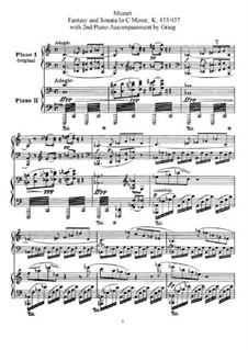 Фантазия No.4 до минор и Соната No.14 до минор, K.475, 457: Для двух фортепиано в 4 руки by Вольфганг Амадей Моцарт
