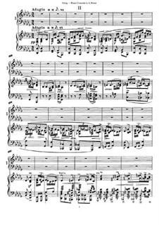Концерт для фортепиано с оркестром ля минор, Op.16: Movement II. Version for Two Pianos Four Hands by Эдвард Григ