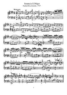 Соната для фортепиано No.15 ми мажор, Hob.XVI/13: Для одного исполнителя by Йозеф Гайдн