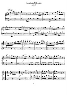 Соната для фортепиано до мажор, Hob.XVI/15: Для одного исполнителя by Йозеф Гайдн
