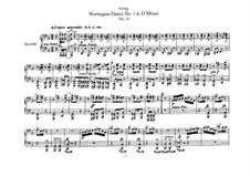 Четыре норвежских танца, Op.35: Для фортепиано в 4 руки by Эдвард Григ