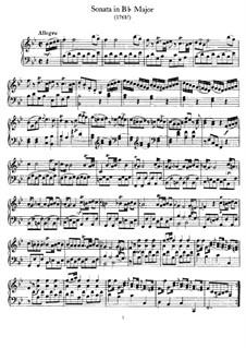 Соната для фортепиано си-бемоль мажор, Hob.XVI/17: Для фортепиано by Йозеф Гайдн