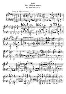 Deux valse caprices, Op.37: Для фортепиано by Эдвард Григ
