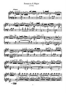 Соната для фортепиано No.45 ля мажор, Hob.XVI/30: Для одного исполнителя by Йозеф Гайдн
