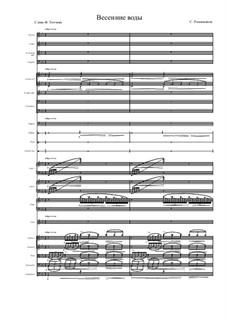 Двенадцать романсов, Op.14: No.11 Весенние воды, для соло и симфонического оркестра by Сергей Рахманинов