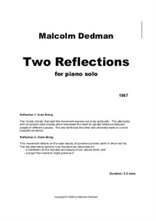 Two Reflections, MMS13: Two Reflections by Malcolm Dedman