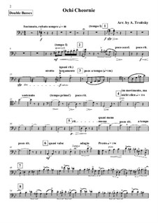 Очи чёрные: For string orchestra – double basses part by Флориан Герман