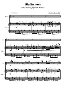 Флюгер, или тот, кто играет с ветром: Для флейты и фортепиано by Владимир Солонский