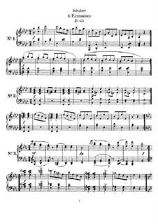 Шесть экосезов, D.421: Для одного исполнителя by Франц Шуберт