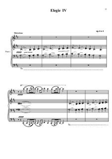 Элегия No.4, Op.4: Элегия No.4 by Михаил Аркадьев