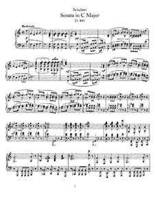 Соната для фортепиано до мажор (Неоконченная), D.840: Для одного исполнителя by Франц Шуберт