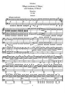 Аллегро модерато и Анданте для фортепиано в четыре руки, D.968: Первая и вторая партии by Франц Шуберт