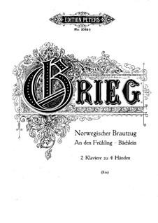 Три пьесы: Для двух фортепиано в 4 руки by Эдвард Григ