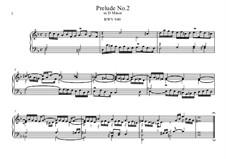 Пять прелюдий, BWV 939-943: Прелюдия No.2 by Иоганн Себастьян Бах
