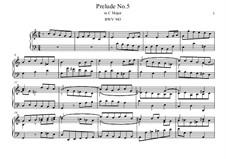 Пять прелюдий, BWV 939-943: Прелюдия No.5 by Иоганн Себастьян Бах