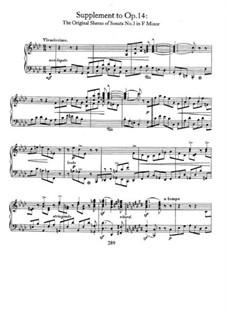 Соната No.3 фа минор (Концерт без оркестра), Op.14: Дополнение by Роберт Шуман