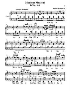Шесть музыкальных моментов, D.780 Op.94: Moment musical No.3 by Франц Шуберт