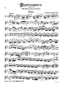 Три дивертисмента для флейты, скрипки и гитары, Op.92: No.2 – партия скрипки by Каспар Куммер