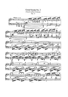 Соната No.3 фа минор (Концерт без оркестра), Op.14: Для фортепиано by Роберт Шуман