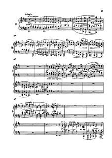 Концерт для фортепиано с оркестром No.1 ре минор, Op.15: Часть II. Версия для двух фортепиано в четыре руки by Иоганнес Брамс