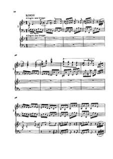 Концерт для фортепиано с оркестром No.1 ре минор, Op.15: Часть III. Версия для двух фортепиано в четыре руки by Иоганнес Брамс