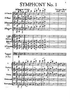 Симфония No.1 до мажор: Партитура by Жорж Бизе