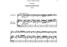 Мадам Баттерфляй: Клавир с вокальной партией by Джакомо Пуччини