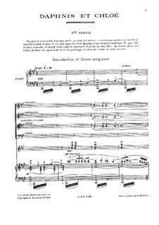 Дафнис и Хлоя, M.57: Для голосов, хора и фортепиано by Морис Равель
