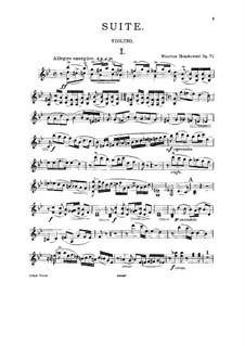 Сюита для двух скрипок и фортепиано, Op.71: Для двух скрипок (или скрипки и виолончели) и фортепиано – партия первой скрипки by Мориц Мошковский