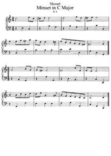Менуэт для фортепиано до мажор, K.6: Для фортепиано by Вольфганг Амадей Моцарт