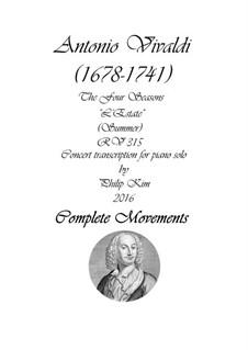Концерт для скрипки с оркестром No.2 соль минор 'Лето', RV 315: Arrangement for piano solo by Антонио Вивальди