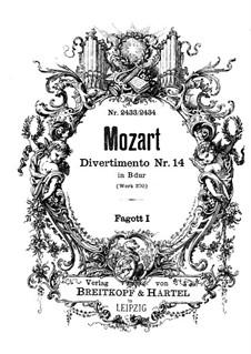 Дивертисмент cи-бемоль мажор, K.270: Партия I фагота by Вольфганг Амадей Моцарт