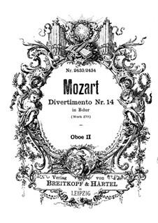 Дивертисмент cи-бемоль мажор, K.270: Партия II гобоя by Вольфганг Амадей Моцарт