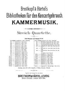 Струнный квартет No.3 соль мажор, K.156: Партия виолончели by Вольфганг Амадей Моцарт