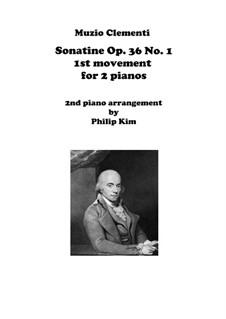Сонатина No.1: Movement I, for two pianos by Муцио Клементи