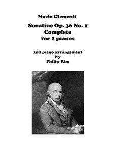 Сонатина No.1: Для двух фортепиано by Муцио Клементи
