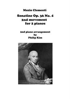 Сонатина No.4: Movement II, for two pianos by Муцио Клементи