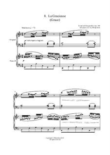 No.8 La Gracieuse (Gracefulness): Для двух фортепиано by Иоганн Фридрих Бургмюллер
