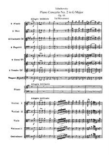Концерт для фортепиано с оркестром No.2 соль мажор, TH 60 Op.44: Партитура by Петр Чайковский