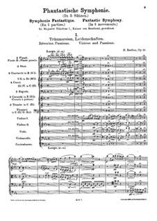 Фантастическая симфония, H.48 Op.14: Партитура by Гектор Берлиоз