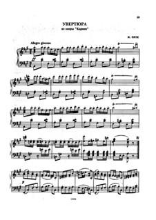 Избранные темы: Увертюра, для фортепиано by Жорж Бизе