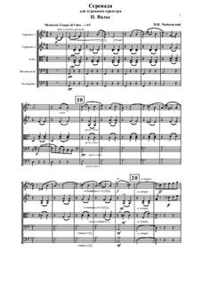 Серенада для струнного оркестра, TH 48 Op.48: Часть II by Петр Чайковский