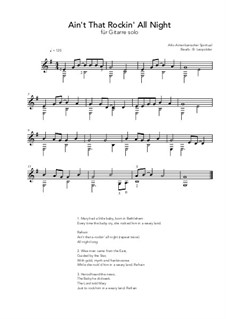 Ain't That A-Rockin' All Night: For guitar by folklore
