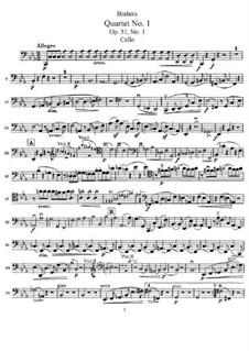 Струнный квартет No.1 до минор, Op.51: Партия виолончели by Иоганнес Брамс