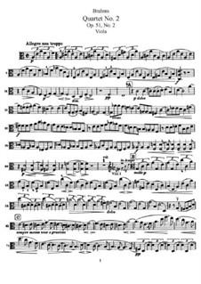 Струнный квартет No.2 ля минор, Op.51: Партия альта by Иоганнес Брамс