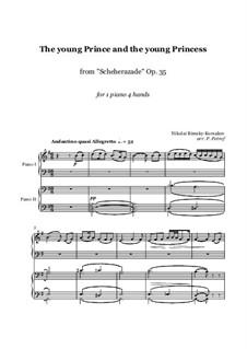 Фрагменты: Movement III, for piano four hands - score and parts by Николай Римский-Корсаков